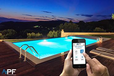 Avec APF Connect, pilotez l'éclairage de votre piscine !