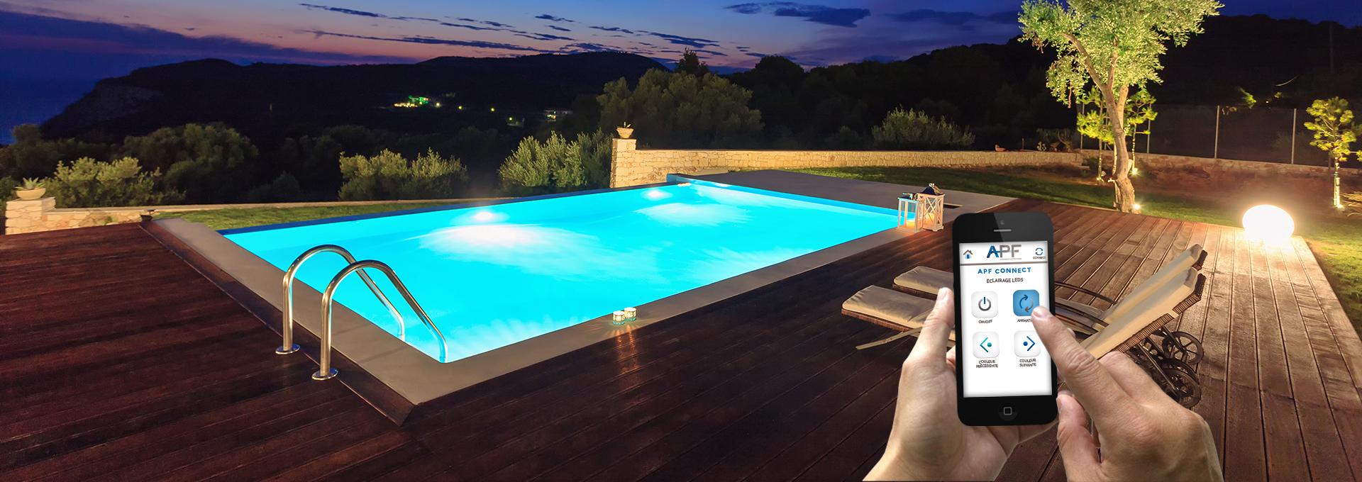 Pilotez l'éclairage de votre piscine avec votre smartphone
